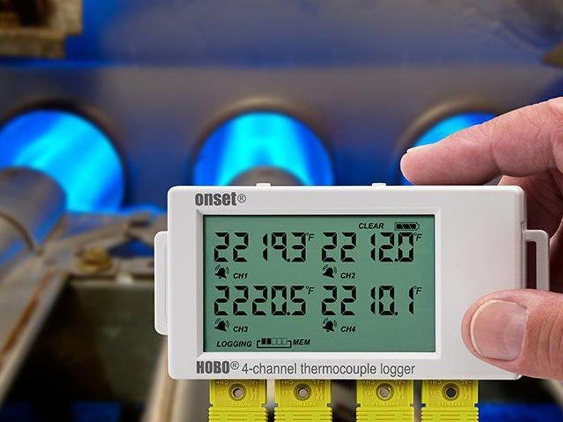 Data Logger com Quatro Canais para Termopar Tipo J, K, S, T, E, R, B, N UX120-014M