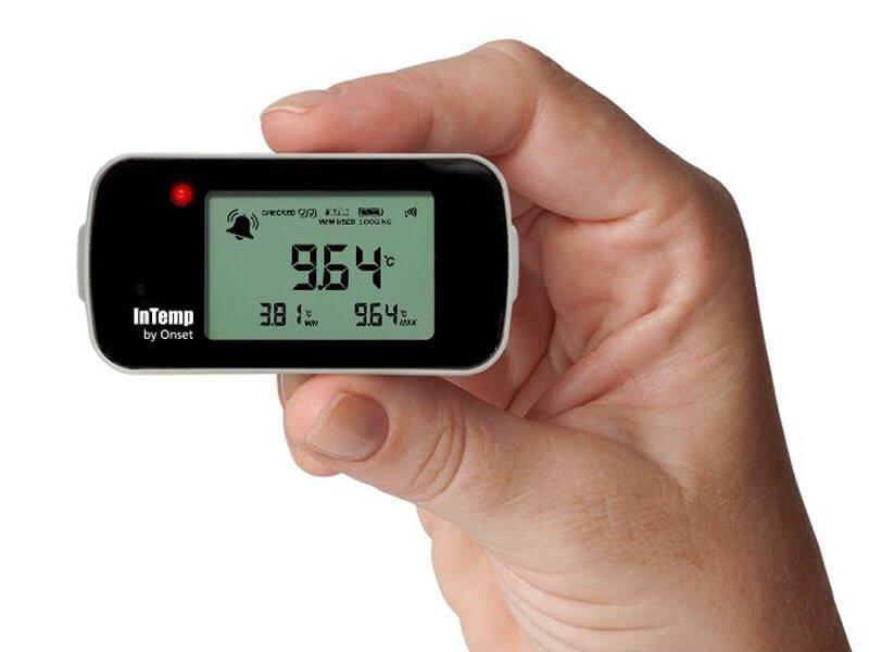 Data Logger de TemperaturaBluetoothpara Freezer com Garrafa de Glicol InTemp CX402-VFCxxx