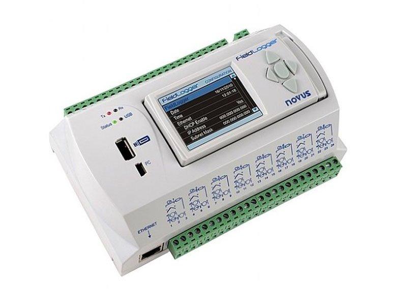 FieldLogger - Módulo de Aquisição e Registro de Dados - 512K, com IHM, Interface RS485, Ethernet e USB