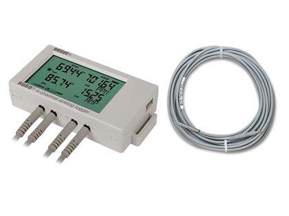 Data Logger Com Entrada Analógica Para 4 Sensores de Temperatura PT100 Com LCD UX120-006M e TMC20-HD
