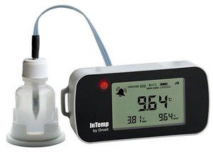 Data Logger de Temperatura Bluetooth Para Freezer Com Garrafa Glicol INTEMP CX402-Txxx