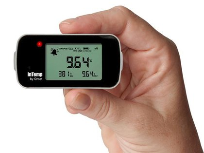 Data Logger de Temperatura Bluetooth Para Freezer Com Garrafa Glicol INTEMP CX402-VFCxxx