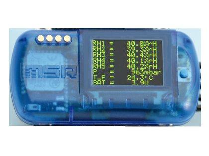 Data Logger sem fio com sensores de temperatura e umidade plug-in MSR147WD