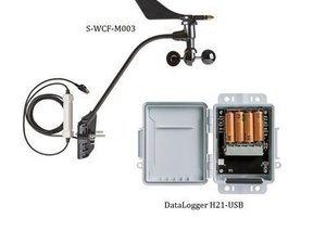 HOBO Data LoggerH21-USB com Sensor de Direção e Velocidade do Vento - Comunicação USB